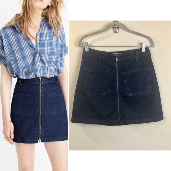 4e2550cbf8 Madewell Dresses & Skirts - Madewell Denim Zip mini skirt